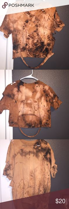 distressed/bleached t shirts! I personally distress and bleach each t shirt to your liking! Contact me for a special order (: Tops Tees - Short Sleeve