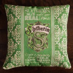 harry potter slytherin harry potter throw pillow by GEEKandtheCHIC, $25.00