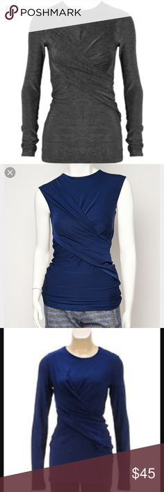 Alexander Wang top Long sleeve top in blue, style in first picture, second photo is of color! Perfect condition! T by Alexander Wang Tops