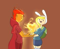 Flame Prince and Fionna by AdventureWoot --- i don't ship it but it's too cute XO XO Fiona Adventure Time, Adventure Time Anime, Mizz Chama, Adveture Time, Prince Gumball, Land Of Ooo, Nostalgia, Flame Princess, Finn The Human