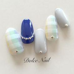 Gray&Blue✔️ #nail #nailart #naildesign #instanail #gelnail #nailsalon #sapporo #dolce #ネイル #ネイルアート #ジェルネイル #札幌 #札幌ネイルサロン