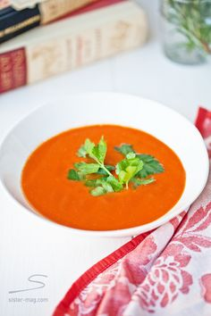 Tomato Bisque Recipe in sisterMAG Issue 1 … Soup feature by Tami Hardeman from runningwithtweezers.com    #soup #food #kitchen