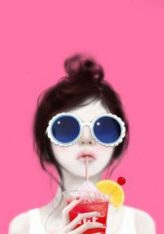 插画——韩国Enakei/Jennie(559图)_@灬铃兰灬收集_花瓣插画/漫画