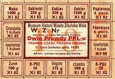 sugar / fats / alcohol / sweets / ration coupons during martial law in Poland… Good Old Times, The Good Old Days, Poland Culture, Party Hard, I Will Remember You, Scary Funny, Central And Eastern Europe, Old Advertisements, Polish Recipes