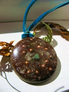 hearty orgonite pendant by Orgoknights on Etsy, $22.00