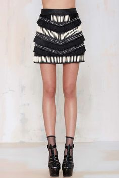 Nasty Gal Easy Rider Leather Skirt