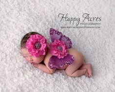 Pink and Purple Newborn Butterfly Wings and by alliballiboutique, $23.95