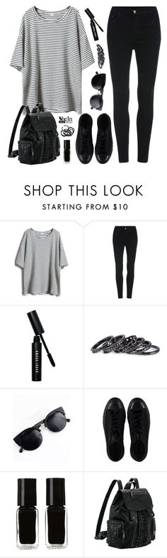 """""""OOTD //1st set of 2016"""" by felytery ❤ liked on Polyvore featuring SHOUROUK, Bobbi Brown Cosmetics, Pieces, Converse, The New Black and H&M"""