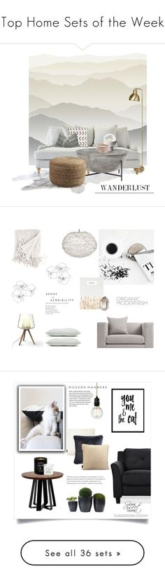 """""""Top Home Sets of the Week"""" by polyvore ❤ liked on Polyvore featuring interior, interiors, interior design, home, home decor, interior decorating, York Wallcoverings, Lee Broom, Blu Dot and contemporary"""
