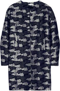 Michael Van Der Ham Camouflage-jacquard coat sur shopstyle.fr