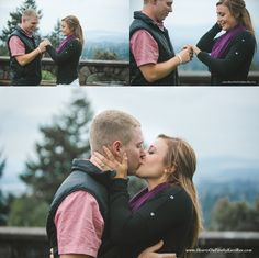 Oregon Proposal at Rocky Butte. Hearts on Fire by Kari Rae, Portland Love Photographer
