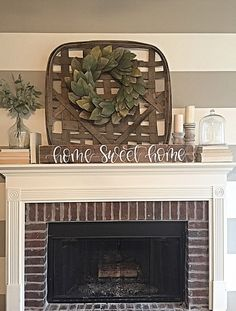 Home Sweet Home Sign | Rustic Home Decor | Hand Painted Sign | Wood Sign…