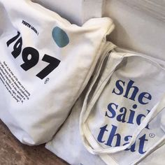 Korean Aesthetic, Blue Aesthetic, Cute Bags, Aesthetic Pictures, Canvas Tote Bags, Fashion Bags, Blue And White, My Style, Clothes