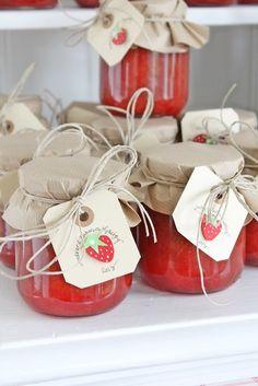 Strawberry Rhubarb Jam packaging is so cute!