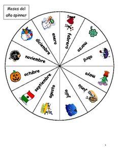"""Spanish Birthday Spinner activity for students to practice """"Mi cumpleaños es el ___ de ___."""""""
