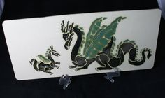 Momma and Baby Dragon Wall Plaque by ExpressionsByAnjuli on Etsy