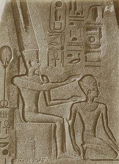 Relief, Amen-Re Blessing Hatshepsut as Pharoah on Pyramidian of Fallen Obelisk