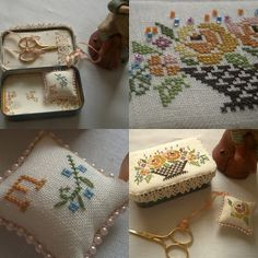 Contemplating my needle and thread: For the needlework people this beautiful sewing tin