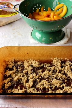 Peach Muffin Bars with whole wheat flour