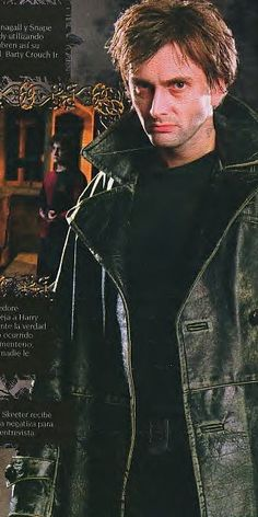 "Barty Crouch Jr. When I first saw this pin I thought to myself, ""Why is Ten in Nine's leather jacket?"""