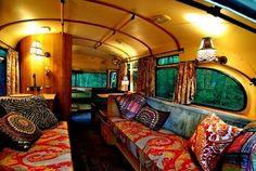 Gorgeous school bus conversion