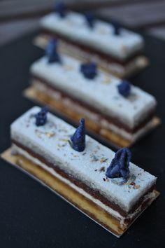 My Lavender & Earl Grey Opera Cake by Talita's Kitchen.