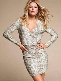 Expect to make a huge statement in this all-over sequin, long sleeve number.