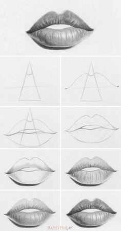 Imagen de lips, art, and draw