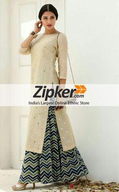 ac5a5fa9680 New mirror work multi printed indo western dress for women. Western Dresses  For Women
