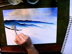 Painting a Mountain Landscape Acrylic Painting Tutorials, Watercolour Tutorials, Painting Videos, Painting Lessons, Watercolor Techniques, Painting Techniques, Art Lessons, Painting & Drawing, Watercolor Video