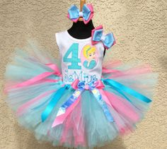 Cinderella Girls Birthday Tutu Outfit