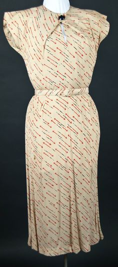 Women's Day Dress 1933 by International Junior, New York.  Pinned from College of Wooster Theater and Dance
