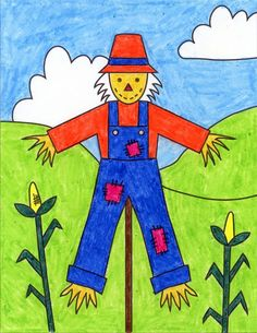 How to Draw a Scarecrow · Art Projects for Kids