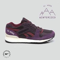 #reebok #gl6000 #winterized #sneakerbaas #baasbovenbaas  Reebok Gl 6000 - The Reebok Gl 6000 got an upper which features a dark shade op purple, burgundy and black!  Now online available | Priced at 84.99 EU | Wmns Sizes 36-42 EU