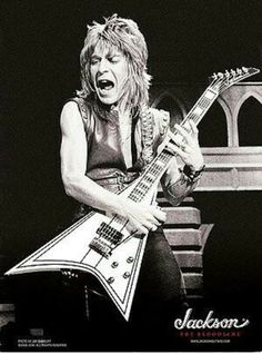 Rudy Sarzo, bassist with Quiet Riot and Ozzy Osbourne, remembers his friend Randy Rhoads and says the difference in his playing in the bands was day and night. Ozzy Osbourne, Jimmy Page, Stairway To Heaven, Rock N Roll Music, Rock And Roll, Led Zeppelin, Jackson Guitars, Black Sabbath, Ideas
