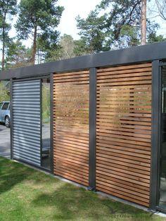 enclosure for Porch, Patio or carport Carport Sheds, Carport Garage, Pergola Carport, Carport Designs, Pergola Designs, Fence Design, Garden Design, House Design, Enclosed Carport