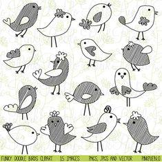 Onze vogels Doodle clipart set bevat 15 PNG-bestanden met een transparante achtergrond, 15 JPG-bestanden met een witte achtergrond en 1 Adobe Adobe Illustrator vector bestand met 15 beelden. Elk beeld is 300dpi en 10 duim op het breedste gedeelte.  Wij zijn altijd kopen drie krijgen een gratis! Alle drie artikelen kopen in onze shop en krijg een ander item gratis! Het laagst geprijsde item van de vier items is gratis; slechts drie items en lijst welke extra digitale object kopen u gratis in…