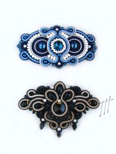 Soutache Bracelet, Soutache Pendant, Soutache Jewelry, Beaded Jewelry, Beaded Necklace, Jewellery, Brooches Handmade, Handmade Jewelry, Unique Jewelry