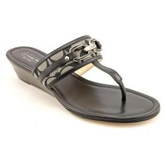 Coach Virginia Open Toe Wedge Sandals Shoes Black « ShoeAdd.com – More Shoes For You Every Day
