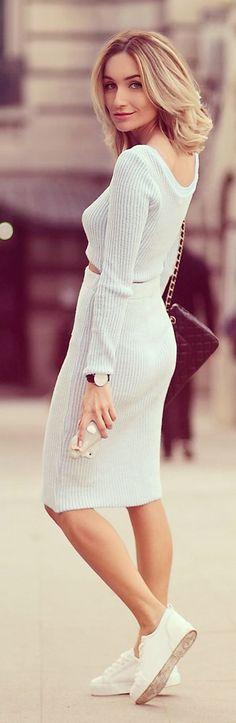 Candy Blue Winter Knit Set