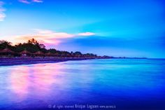 Sunset at Lake Nicaragua and the beach of San Jorge
