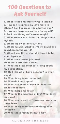 100 Questions to Ask Yourself for Self Growth - Questions to Ask Yourself List . - 100 Questions to Ask Yourself for Self Growth – Questions to Ask Yourself List for Self Growth # - 100 Questions To Ask, This Or That Questions, Personal Questions, Favorite Questions, Random Questions, Journal Questions, Therapy Journal, Journal Writing Prompts, Journal Topics