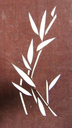 bamboo leaves stencil