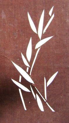 Vintage Japanese Katagami/Stencil - Bamboo motif