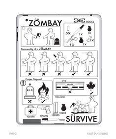 Ikea Zombie Plan iPad 2 Skin.