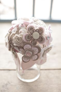 diy button bouquet