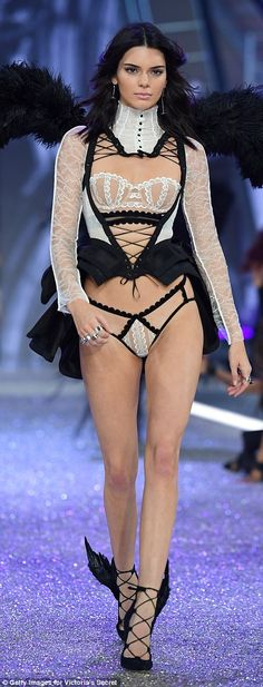 I'm like a bird: Even Kendall's shoes had wings coming off the back as she walked down a s...