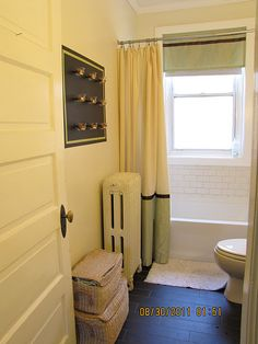 Like The Two Toned Shower Curtain. To Extend The Height/length Of The  Curtain, Sew Extra Material To The Top I. A Tablecloth Or Part Of Another  Shower ...