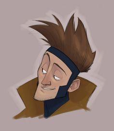 Les X-Men version cartoon de Randy Bishop - Gambit