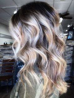 Dark & depth create a more beautiful blonde! Hair Color And Cut, Blonde Balayage, Hair Goals, Hairdresser, Color Pop, Salons, Contrast, Long Hair Styles, Beauty